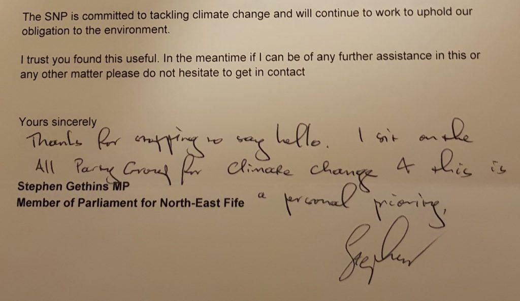MP letter