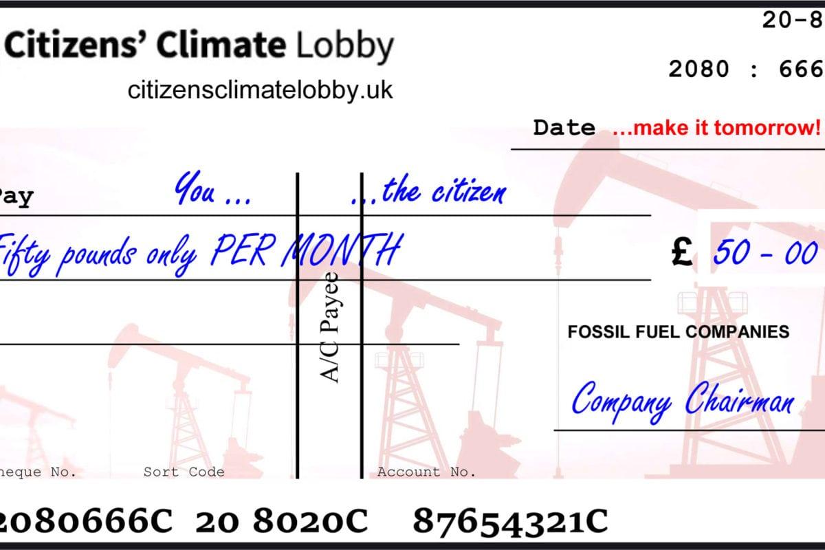 dividend cheque